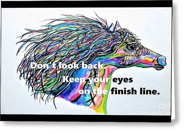 Don't Look Back Greeting Card by Eloise Schneider