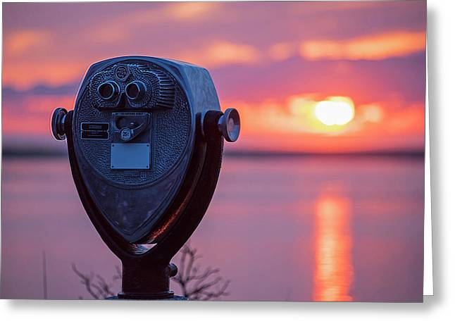 Don't Look Directly Into The Sun Chatham Ma Cape Cod Greeting Card by Toby McGuire