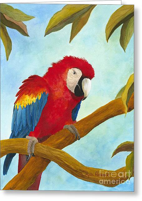 Greeting Card featuring the painting Dont Ruffle My Feathers by Phyllis Howard