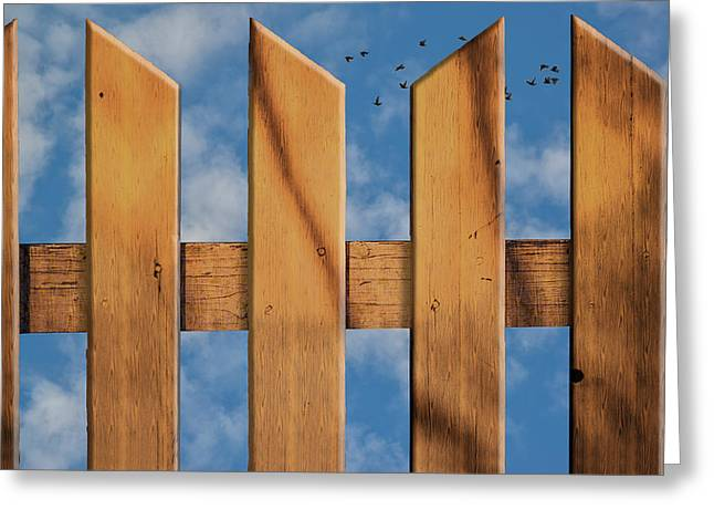 Greeting Card featuring the photograph Don't Take A Fence by Paul Wear