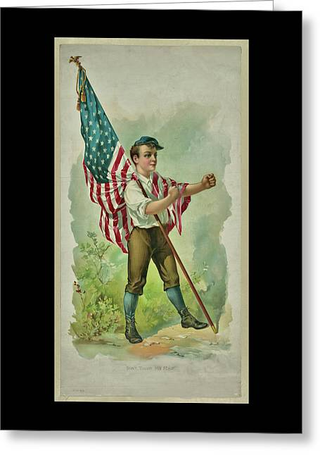 Don't Touch My Flag 1890 Greeting Card
