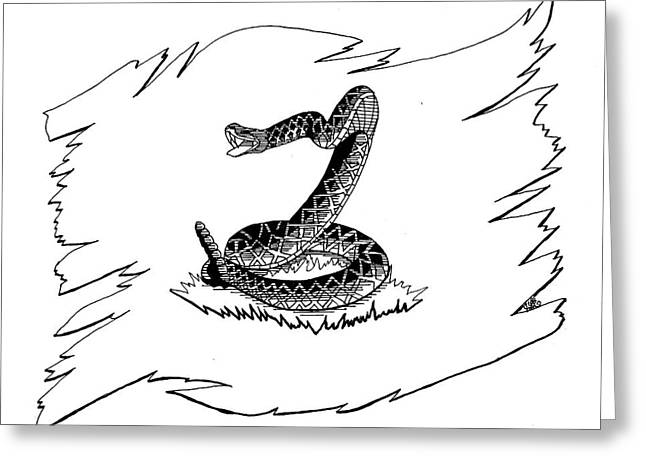 Snake Flag Greeting Cards - Dont Tread On Me Greeting Card by Scarlett Royal
