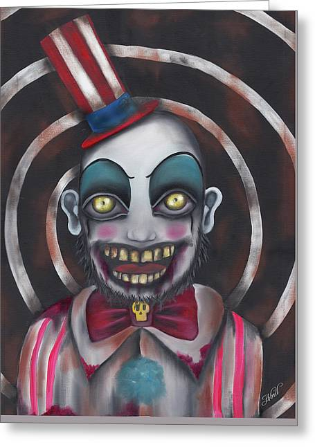 Don't You Like Clowns?  Greeting Card by Abril Andrade Griffith