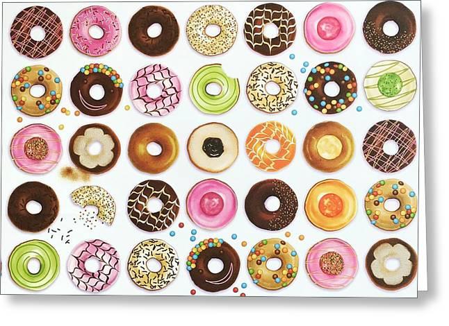 Donut Greeting Card by Ann Foo