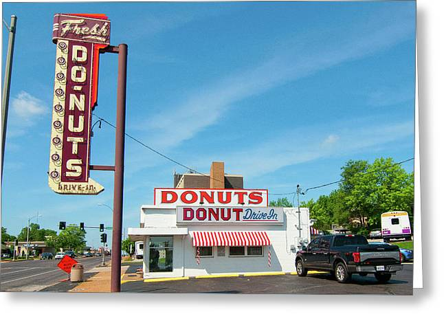 Donut Drive In Greeting Card