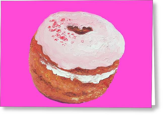 Donut Painting Greeting Card by Jan Matson