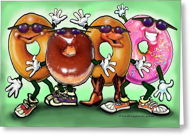 Donut Party Greeting Card