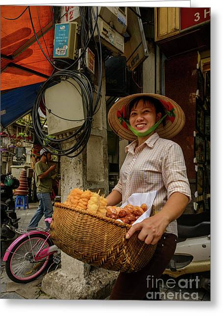 Donut Seller Greeting Card