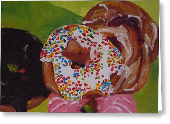 Donuts And Danish Greeting Card by Irit Bourla