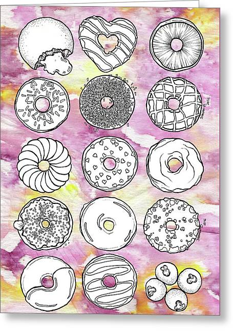 Donuts Or Doughnuts? Greeting Card by Dthe Vyda Crystal