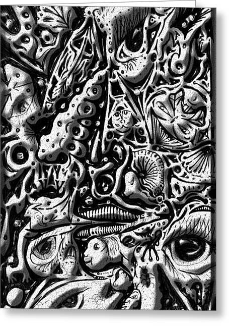 Greeting Card featuring the digital art Doodle Emboss by Darren Cannell
