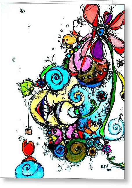 Doodle Greeting Card by Lizzie  Johnson