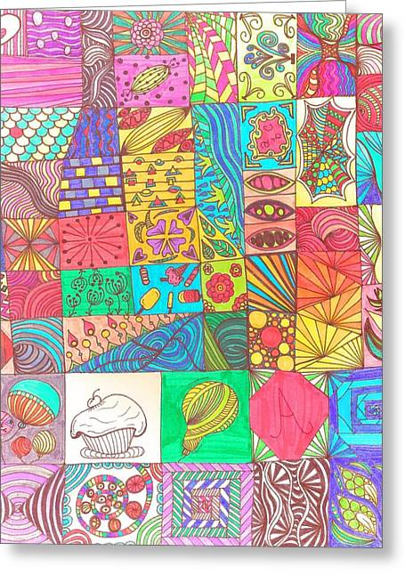 Doodle Madness Greeting Card by Gyles Jenkins