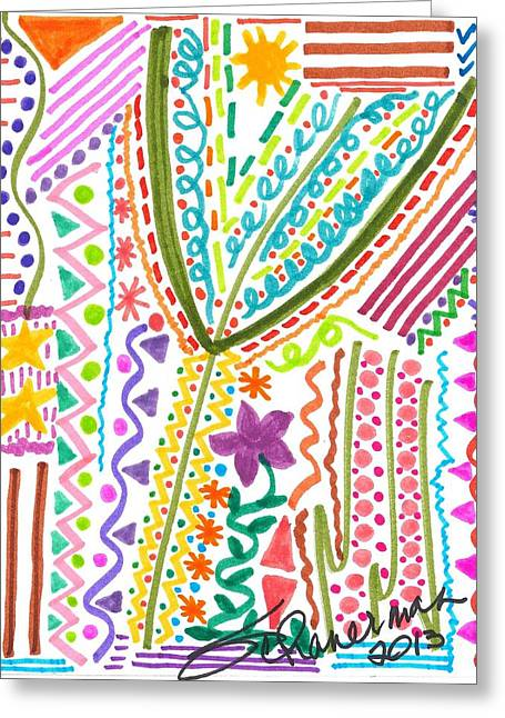 Doodles Gone Wild Greeting Card