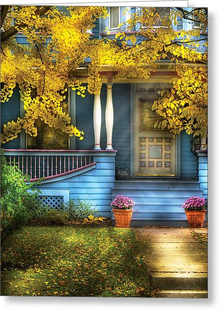 Door - Gorgeous Victorian  Greeting Card by Mike Savad