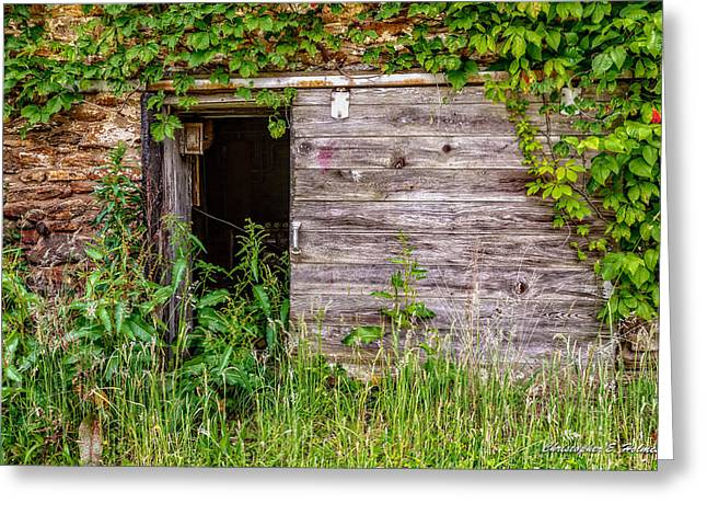 Greeting Card featuring the photograph Door Ajar by Christopher Holmes