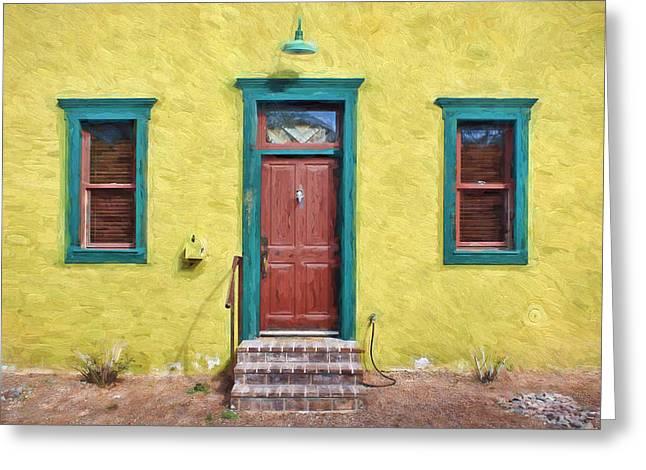 Door And Windows - Barrio Historico - Tucson Greeting Card