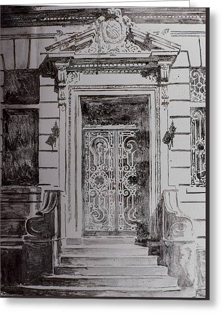 Door Greeting Card by Anthony Butera