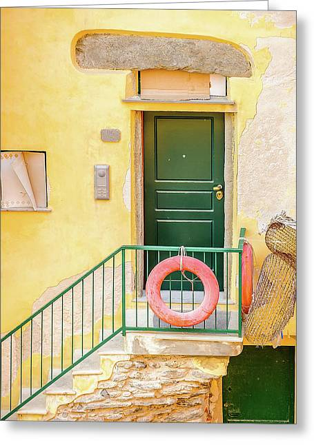 Door By The Sea Greeting Card by Marla Hunt