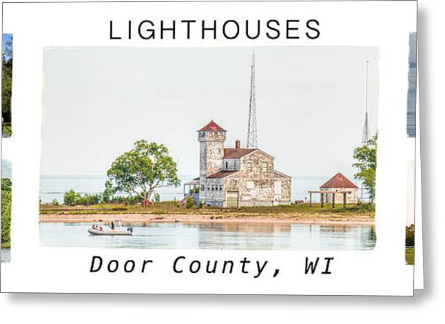 Door County Lighthouse Collection Greeting Card by Nikki Vig