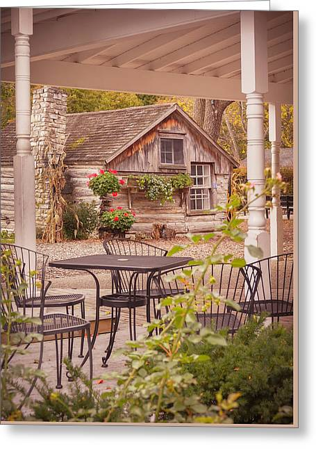 Greeting Card featuring the photograph Door County Thorp Cottage by Heidi Hermes