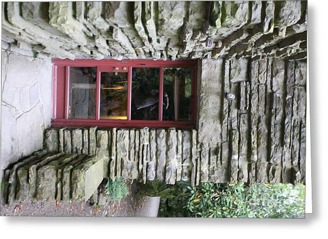 Door Fallingwater  Greeting Card by Chuck Kuhn