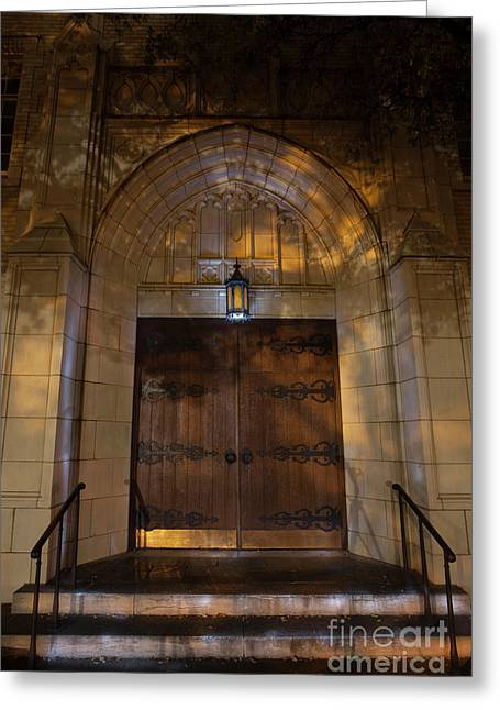 Door, First United Methodist Church, Ft. Worth Greeting Card