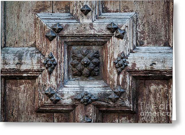 Door Fragment Of The Church Of The Jacobins Greeting Card by Elena Elisseeva