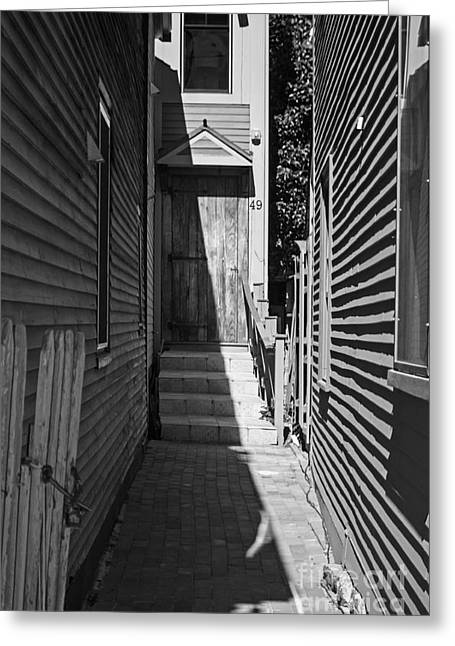 Door In An Alley Greeting Card by Kevin Fortier