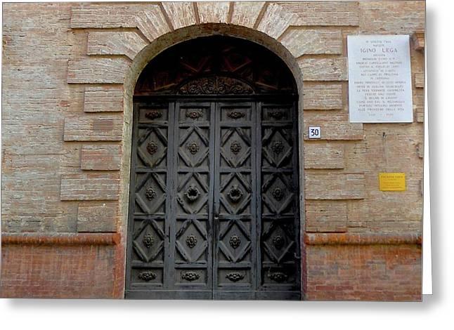 Door In Ferrara, Italy Greeting Card by Italian Art