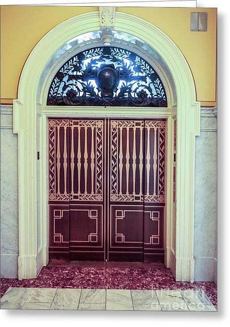 Door In Library Of Congress Greeting Card