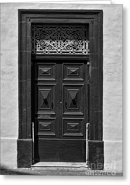 Door In Rabat, Gozo Greeting Card