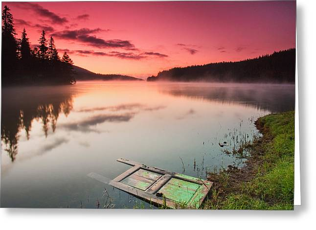 Door In The Lake Greeting Card by Evgeni Dinev