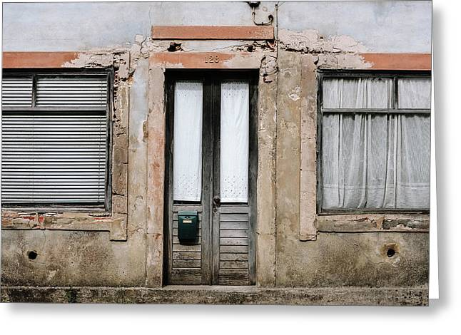 Greeting Card featuring the photograph Door No 128 by Marco Oliveira