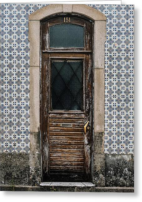 Greeting Card featuring the photograph Door No 151 by Marco Oliveira