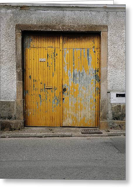 Greeting Card featuring the photograph Door No 152 by Marco Oliveira