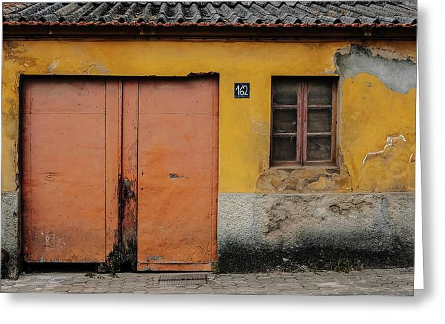 Greeting Card featuring the photograph Door No 162 by Marco Oliveira