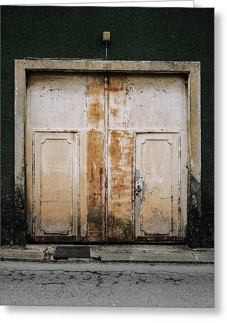 Greeting Card featuring the photograph Door No 163 by Marco Oliveira