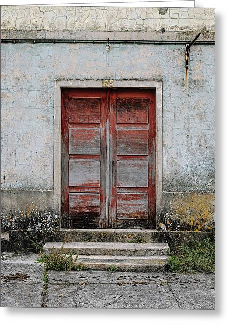 Greeting Card featuring the photograph Door No 175 by Marco Oliveira