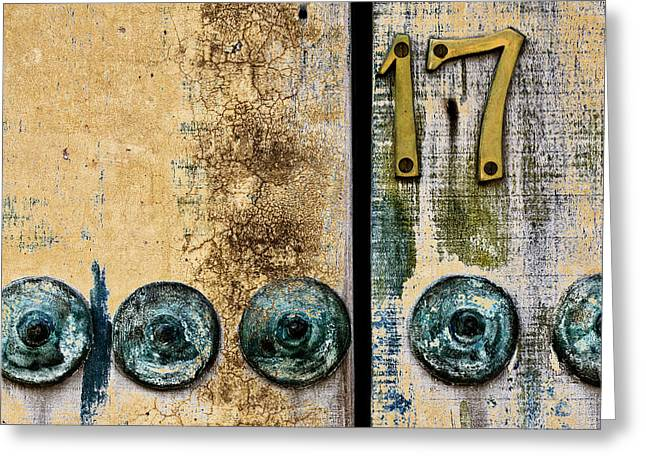 Door Number 17 In Mexico Greeting Card