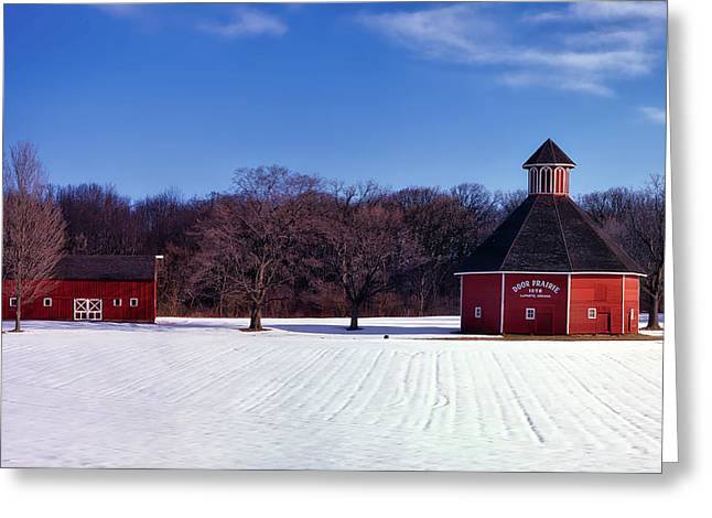 Door Prairie Winter Greeting Card