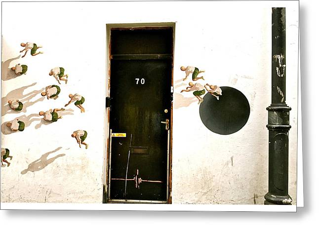 Door Seventy Street Art Greeting Card