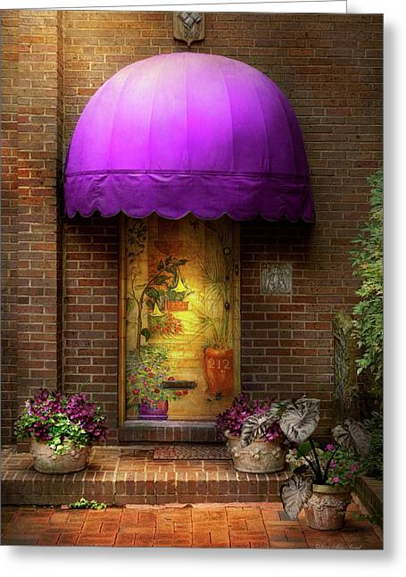 Door - The Door To Wonderland Greeting Card by Mike Savad