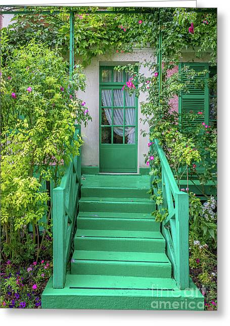 Door To Claude Monet's Home, Giverny 2 Greeting Card