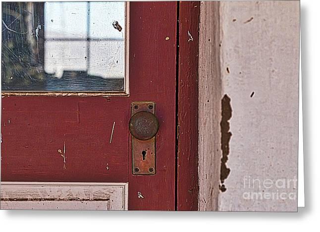 Door Window Wall Greeting Card