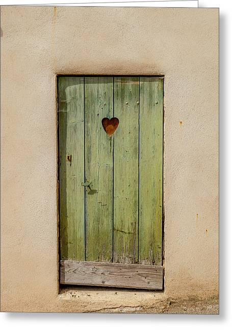 Door With Heart In Ancy Greeting Card