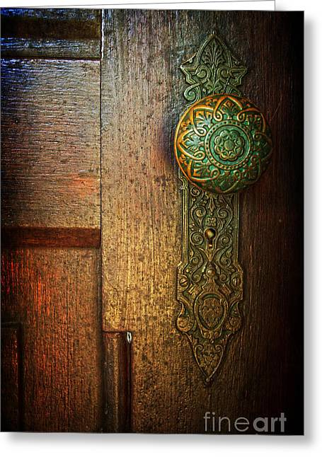 Doorknob Greeting Card