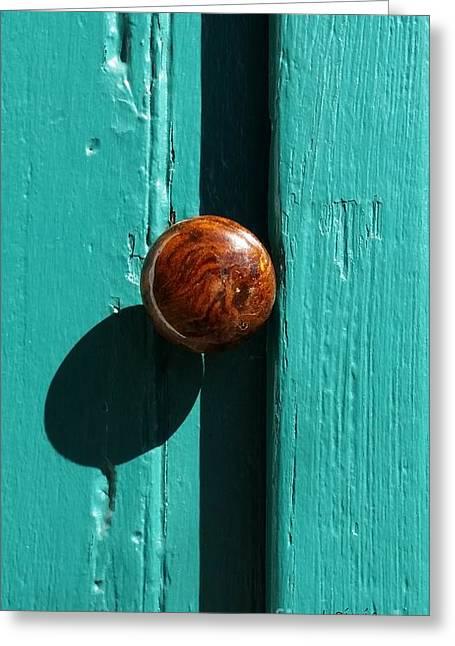Doorknob With Shadow Greeting Card