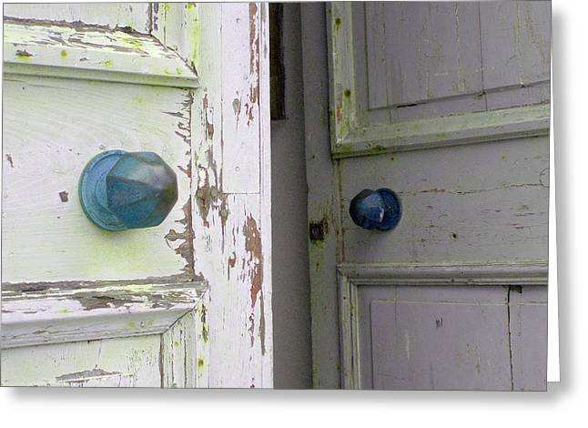 Doorknobs On Corfu Greeting Card