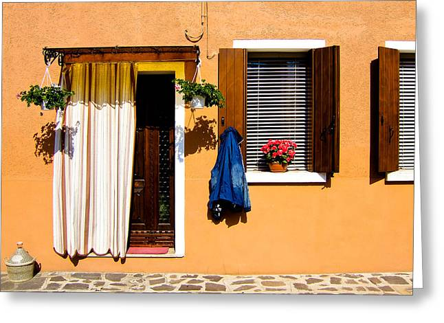 Doors And Windows IIi Burano Italy Greeting Card by Carl Jackson